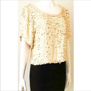 Sequin Beaded Top Party Blouse
